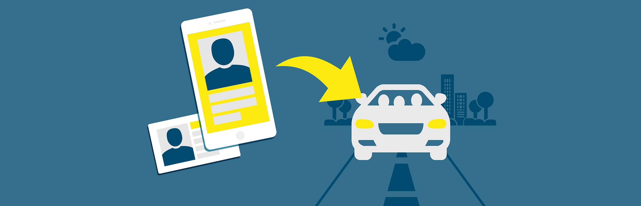 Otključajte vozilo preko aplikacije ili kartice, uđite i odvezite se. Nakon završetka vožnje, jednostavno ga ponovo zatvorite putem aplikacije ili kartice.